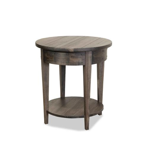 Durham Furniture - Distillery Round Lamp Table