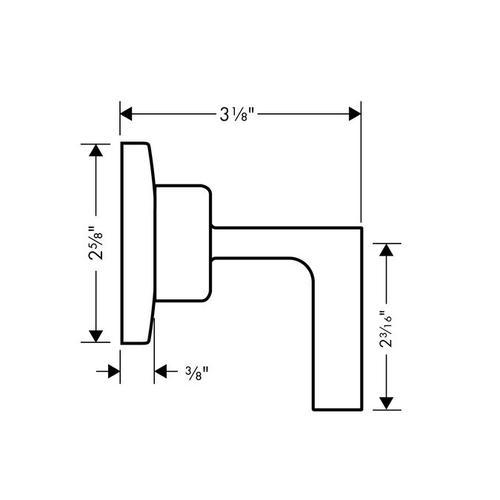 Chrome Volume Control Trim with Lever Handle