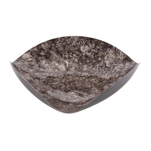 Howard Elliott - Flared Black Marbled Iron Plate, Small