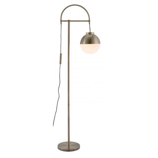 Waterloo Floor Lamp White & Brushed Bronze