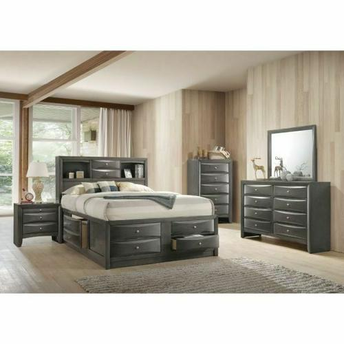 ACME Ireland Full Bed w/Storage - 22710F - Gray Oak