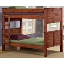 Full/Full Post Bunk Bed w/Queen Rails