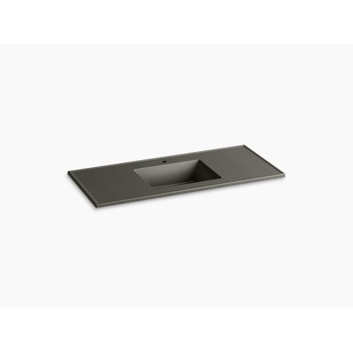 """Cashmere Impressions 49"""" Rectangular Vanity-top Bathroom Sink With Single Faucet Hole"""