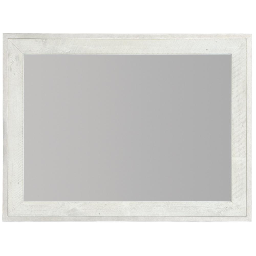 Denys Mirror in Brushed White (398)