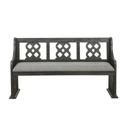 See Details - Bench with Curved Arms