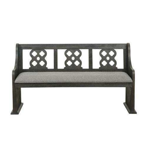 Homelegance - Bench with Curved Arms