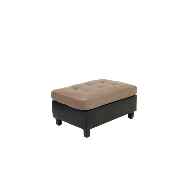 See Details - Mallory Casual Tan Ottoman