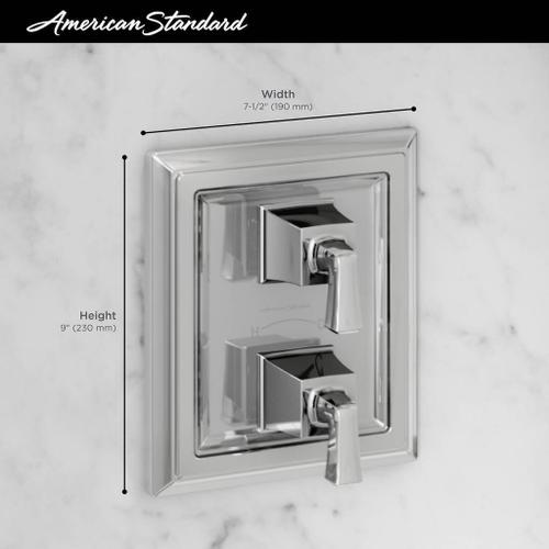 Town Square S Two-Handle Thermostat Valve Trim Kit  American Standard - Polished Chrome