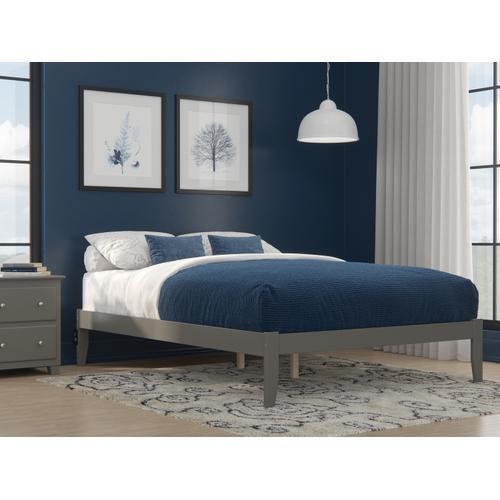 Colorado Queen Bed with USB Turbo Charger in Grey