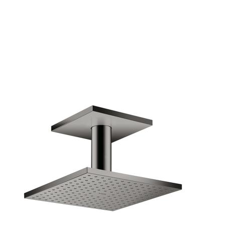 Polished Black Chrome Overhead shower 250/250 2jet with ceiling connection
