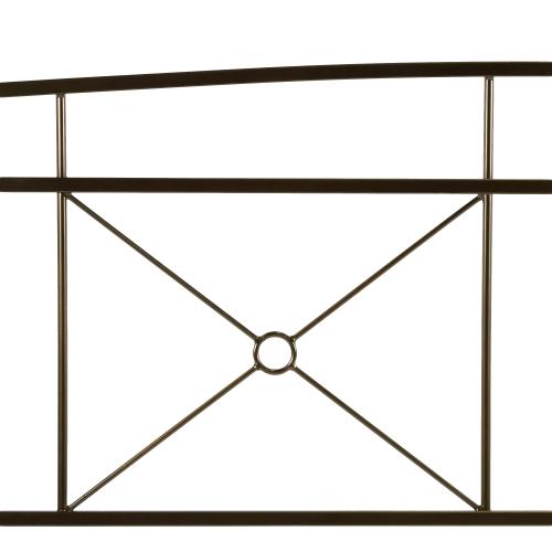 Fashion Bed Group - Russett Complete Metal Bed and Steel Support Frame with Modest Sloping Top Rails, Liquid Bronze Finish, King