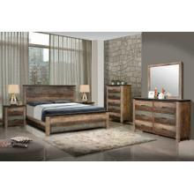 Sembene Bedroom Rustic Antique Multi-color California King Bed Four-piece Set