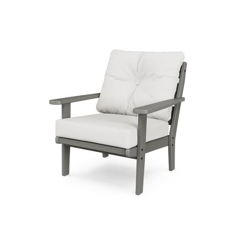 White & Marine Indigo Lakeside Deep Seating Chair