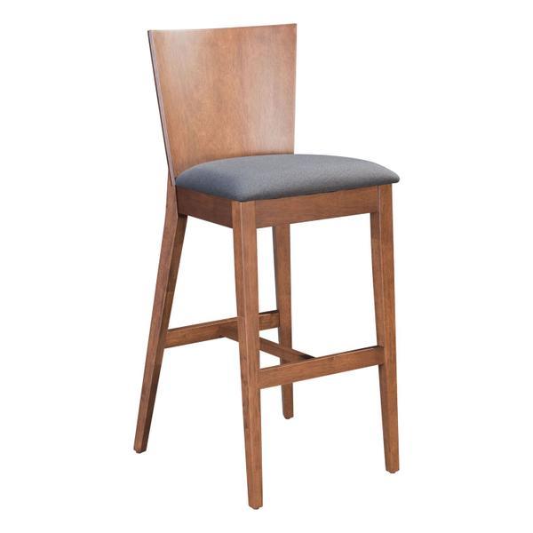 See Details - Ambrose Bar Chair Walnut & Gray