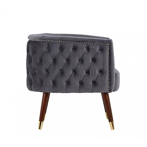 VIG Furniture - Modrest Bethel Modern Grey Velvet Accent Chair