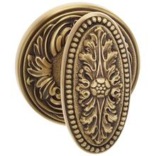 Interior Ornate Beaded Knob Latchset in BAS (Siena Brass, Lacquered)