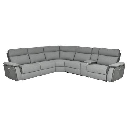 See Details - 6-Piece Modular Power Reclining Sectional with Power Headrests