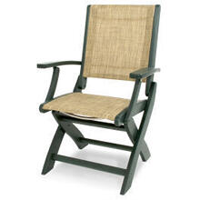 View Product - Coastal Folding Chair in Green / Burlap Sling