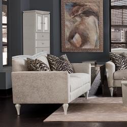Upholstered Swivel Chiffonier Lingerie Chest Living Room Storage Cabinet