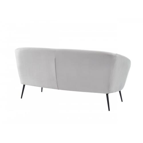 VIG Furniture - Divani Casa Koeing - Modern Light Grey Fabric Sofa