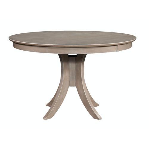 John Thomas Furniture - 30'' H Siena Pedestal Table in Taupe Gray