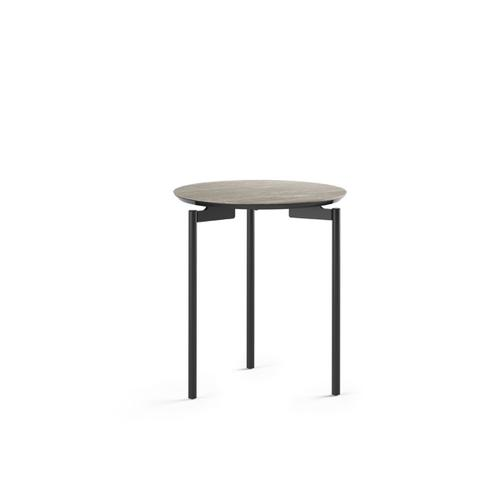 1736 Round End Table BDI in Concreta