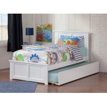 Madison Twin Flat Panel Foot Board with Urban Trundle White