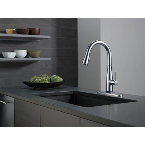 Arctic Stainless VoiceIQ Single Handle Pull-Down Faucet with Touch20 ® Technology