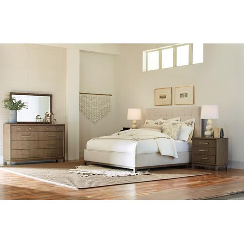 High Line by Rachael Ray Complete Upholstered Bed, King 6/6