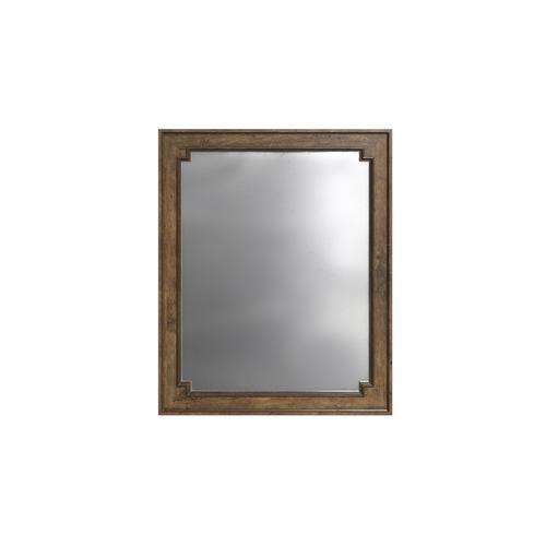 Hillside Landscape Mirror - Chestnut
