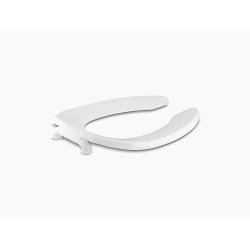 White Elongated Toilet Seat With Self-sustaining Check Hinge