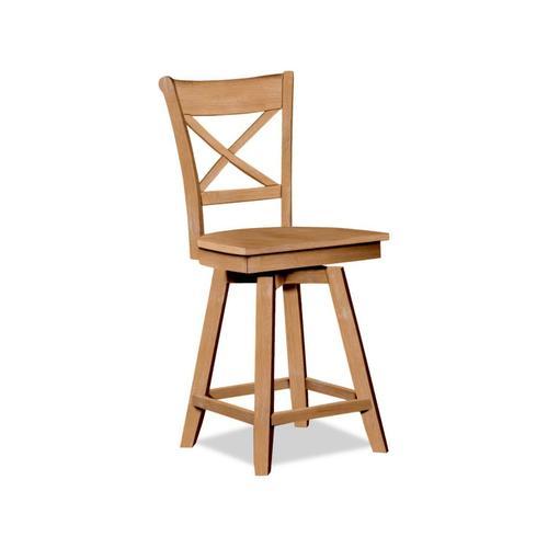 John Thomas Furniture - 24 Inch Charlotte Swivel Stool