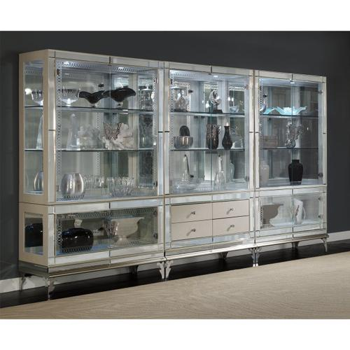 Amini - Curio With Drawer Base