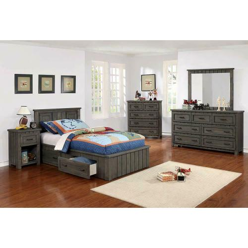 Napoleon Rustic Gun Smoke Twin Bed