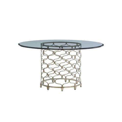 Bollinger Round Dining Table With Glass Top 60 Inch