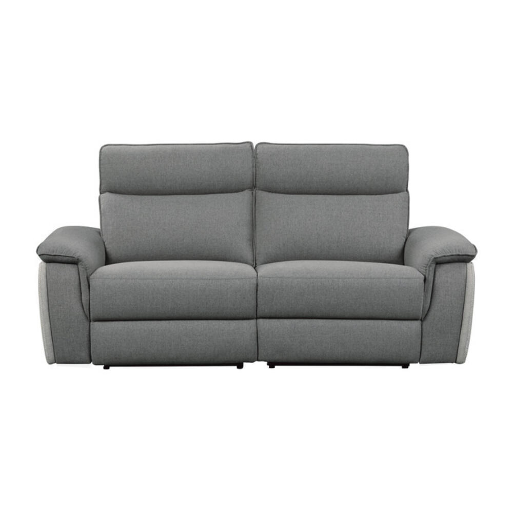 Power Double Reclining Love Seat with Power Headrests