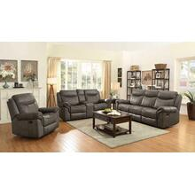Sawyer Transitional Taupe Motion Loveseat