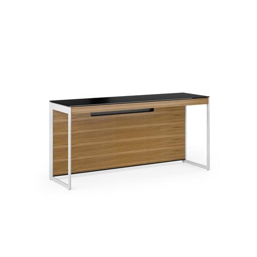 BDI Furniture - Sequel 20 6102 Console/Laptop Desk in Walnut Satin Nickel