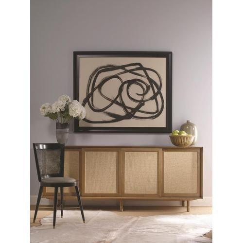 Century Furniture - Harvey Media Console With Raffia Door Trim