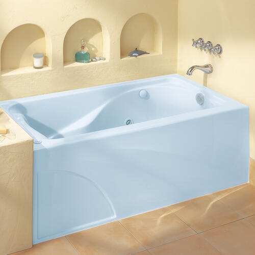 Cadet 60x32 inch Whirlpool with Apron  Right Drain  American Standard - White