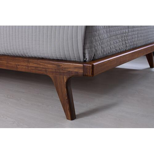 Greenington Fine Bamboo Furniture - Mercury Upholstered California King Platform Bed, Exotic