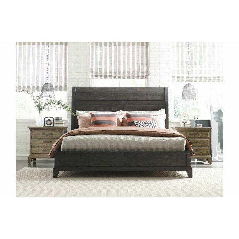 Eastburn Sleigh King Bed - Complete