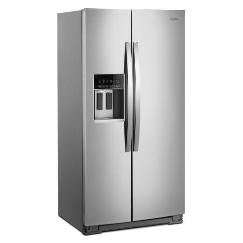 Whirlpool - 36-inch Wide Side-by-Side Counter Depth Refrigerator - 20 cu. ft.