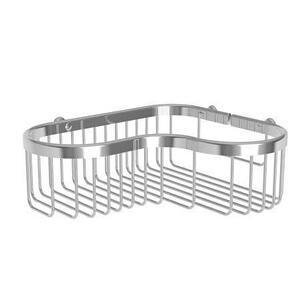 Satin Nickel Large Corner Basket