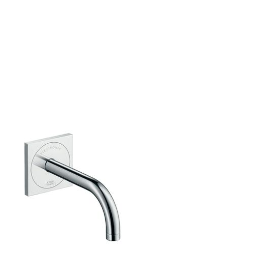Chrome Electronic basin mixer for concealed installation wall-mounted with spout 165 mm