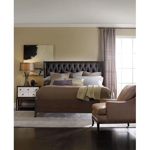 Bedroom Palisade Upholstered Shelter King Bed - Carbon Fabric
