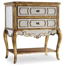 See Details - Sanctuary Mirrored Leg Nightstand-Bling