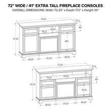 FT72G Extra Tall Fireplace Custom TV Console
