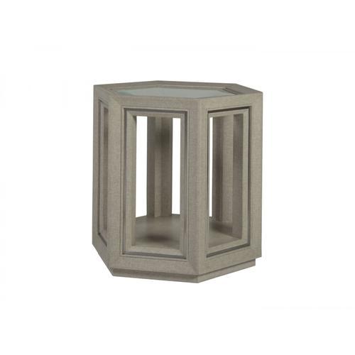 Zeitgeist Linen Hexagonal End Table