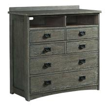 Oak Park Media Chest  Pewter